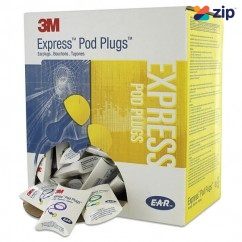 3M 321-2115 - 100 Pairs Corded E.A.R Express Pods Yellow Earplugs M3212115 Head, Eye & Ear protection