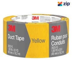 3M 3920-YL - 48mm x 18.2m Yellow Duct Tape 70006954641 Construction Consumables