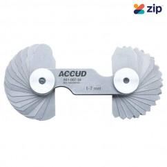 Accud AC-941-007-34 - (17x2 leaves) 1-7mm Radius Gauge  Measuring Level