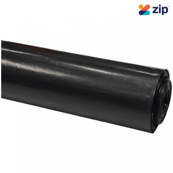 C & L PLASTICBLACK200 - 4m x 50m x 200um Black Builders Polythene Film Roll Construction Consumables