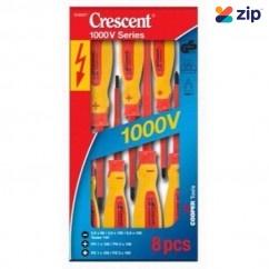 APEX Crescent SD8SET - 8 Piece Insulated 1000v Screwdriver Set Tool Kit