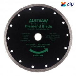 "Austsaw AUDIA150C - 150mm (6"") Continuous Rim Diamond Blade"
