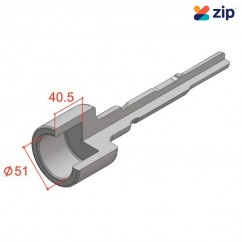 Action 22614200 - 50 x 200mm Star Picket Driver Bit For 30mm HEX Chucks