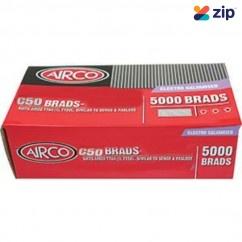 Airco C50 - 50mm x 1.60mm Electro Galvanised Brads BC16500 Nail Gun Nails Consumables