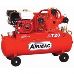 Glenco Airmac T20P-70 - 17.3cfm 70L Tank 3 Cyl Petrol Air Compressor Petrol & Diesel