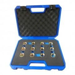 Alco ALCK6-DIEKIT - 12 Piece 6 Ton Copper Die Kit For Hexagonal Crimping Press Tools