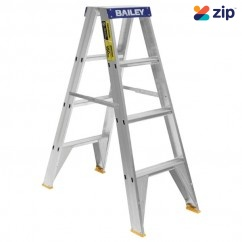 Bailey FS13386 - 1.2m 150kg Professional Punchlock Double Sided Aluminium Step Ladder Step Ladders