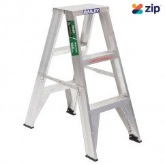 Bailey FS13428 - 0.9m Trade DS3 150kg Aluminium Riveted Double Sided Step Ladder Step Ladders