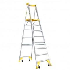 Bailey FS13543 - 2.32m Aluminium Pro AL P170 170kg 8 Job Station Platform Step Ladder Platform Ladders & Order Pickers