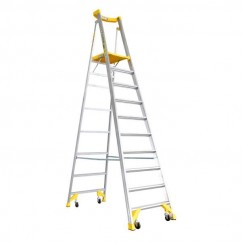 Bailey FS13544 - 2.91m Aluminium Pro AL P170 170kg 10 Job Station Platform Step Ladder Platform Ladders & Order Pickers