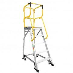 Bailey FS13876 - 3.38m 150kg MK3Aluminum 5 Step Order Picking Platform