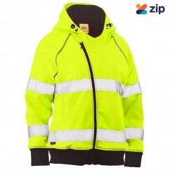Bisley BKL6819T_BF51 - 100% Polyester Yellow Women's Taped HI VIS Fleece Zip Front Hoodie Others
