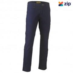 Bisley BP6008_BPCT - Navy Stretch Cotton Drill Work Pants Workwear Pants