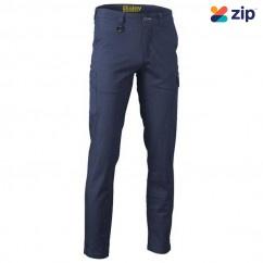 Bisley BPC6008_BPCT - Navy Stretch Cotton Drill Cargo Pants Workwear Pants