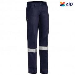Bisley BPL6007T_BPCT - 100% Cotton Navy Women's Taped Original Drill Work Pants Workwear Pants