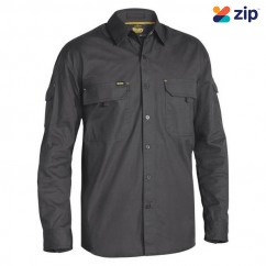 Bisley BS6414_BCCG - 100% Cotton Charcoal X Airflow Ripstop Shirt Workwear Shirts