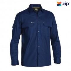 Bisley BS6414_BPCT - 100% Cotton Navy X Airflow Ripstop Shirt Workwear Shirts
