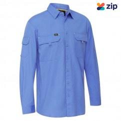 Bisley BS6414_BULT - 100% Cotton Blue X Airflow Ripstop Shirt Workwear Shirts