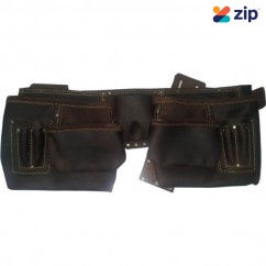 Black Steel TGM-28102 - 11 Pocket Oil Tanned Nail Bag Tool Aprons, Belts & Holders