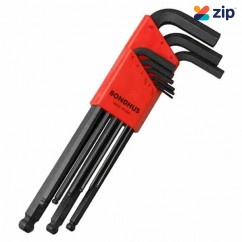 Bondhus 10999 - 9 Piece Ball End Hex Key Set Hex & Torx Key