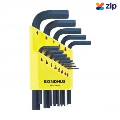Bondhus 12237- 13 Piece Short Hex Key Wrench Set