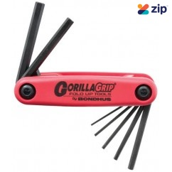 Bondhus 12587 - 7 Piece Gorillagrip Foldup Metric Hex Key Set