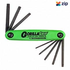 Bondhus 12638 - 8 Piece Gorilla Grip Folding Torx Key Set