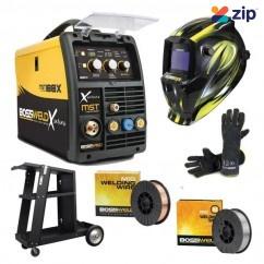 Bossweld 699188 Bundle - 240V 10A X-Series MST 188X Mig/Stick/Tig Inverter Welder Kit Welding Machines