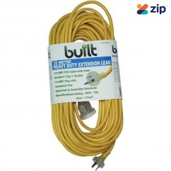 built LEAD25 - 25m 15Amp Cable 10Amp Plug Socket Extension Lead 190-52-59225