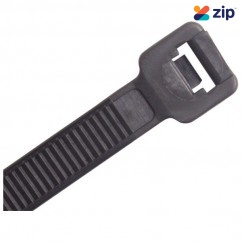 CABAC CT365BK-HD - 370 x 7.6mm Black Nylon Heavy Duty UV Cable Ties