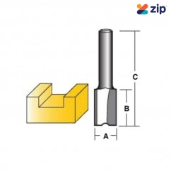 "Carb-I-Tool T2 SERIES - 6.35 mm (1/4"") Shank Carbide Tipped Straight Bits Router Bits"