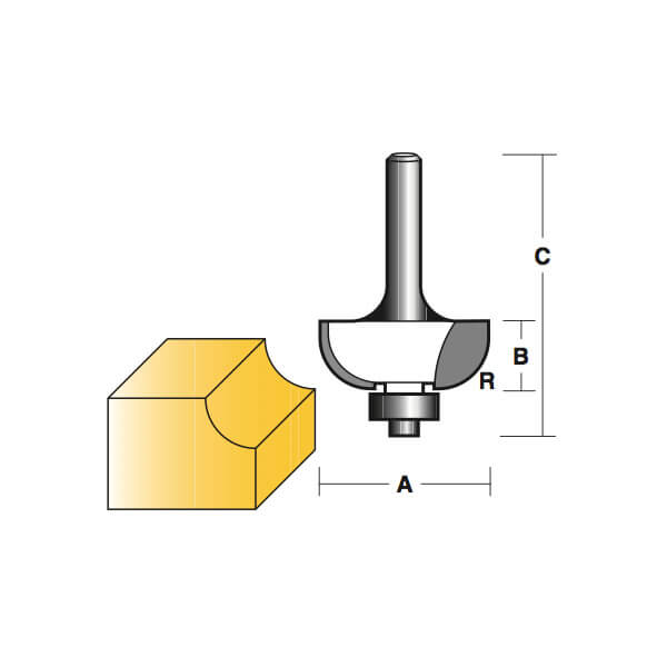 Carb I Tool T712b1 2 1 2 Shank Cove Router Bit