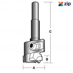 "Carb-I-Tool TAHB50 - 10mm (3/8"") Shank Adjustable Hinge Boring Bit (Tct) Router Bits"