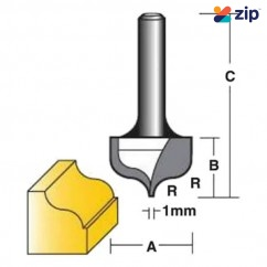"Carb-I-Tool TF75091/2 - 1/2"" Shank OGEE Bits Fine Point Router bit Edge and Face Forming Bits"