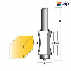 "Carb-I-Tool THBN60B1/2 - 12.7 mm (1/2"") Shank Half Bull Nose Radius Bit Router Bits"