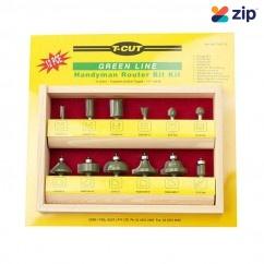 "Carb-I-Tool TKIT-12 - T-CUT 12 Pieces 1/4"" Router Bit Set Router Bits"