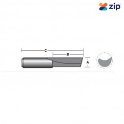 """Carb-I-Tool TSP06MS - Solid Carbide – Single """"spoon"""" Flute Router Bits"""