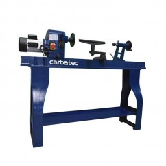 Carbatec WL-1100P - 1100W 1100mm Economy Variable Speed Wood Lathe Work Benches & Stands