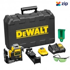 DeWalt DCE089D1G-XE - 10.8V Cordless 3 Way Green Beam Self Levelling Multi Line Laser Kit Cross Line & Dot Lasers