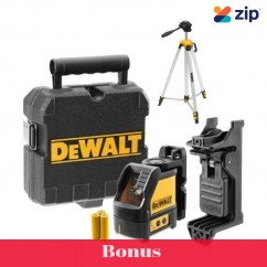 DeWalt DW088CG-XJ - 50m Self Levelling Green Bean Cross Line Laser Kit Cross Line & Dot Lasers