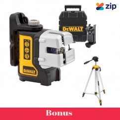 DeWalt DW089CG-XJ - 3 Line Self Levelling Green Bean Cross Line Laser Kit Cross Line & Dot Lasers