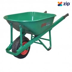 Easymix W800S-HSGWGP - Green Heavy Duty Steel Contractors Wheelbarrow Wheelbarrows & Trolleys