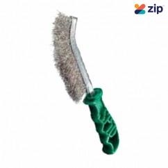 SPID SPIDSS -  Wire Stainless Steel Hand Brush (Green Handle)