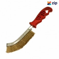 Spid Steel SPIDSTEEL - Brass Plated Wire Brush with Red Plastic Handle Cleaning Products