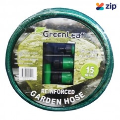 "GreenLeaf GREEN190-32-44447 - Garden Hose 15M 1/2"" with 4PC Fitting Air Hoses & Fittings"