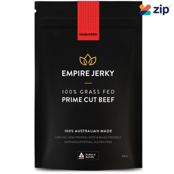 EMPIRE JERKY Habanero Favourite 100% Grass Fed Prime Cut Beef Jerky - 50G Hydration