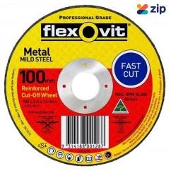 FLEXOVIT 66252841558 - 100 x 2.5 x 16mm FH38-A36S Metal Cut Off Disc1010216