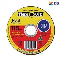 FLEXOVIT 66252841560 - 115 x 2.5 x 22.23mm FH38-A36S Metal Cut Off Disc 1011522