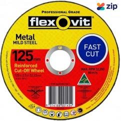 FLEXOVIT 66252841561 - 125 x 2.5 x 22.23mm FH38-A36S Metal Cut Off Disc 1012722