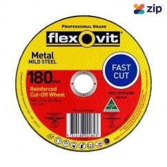 FLEXOVIT 66252841566 - 180 x 2.5 x 22.23mm FH38-A36S Metal Cut Off Disc 1017822